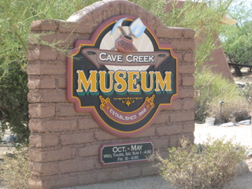 Signs of Arizona | Institutional Signs | Museums | Cave Creek Museum, Cave Creek